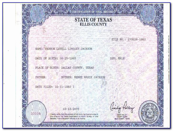 Where To Get Birth Certificate Pasadena Tx